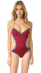 Kiini Soley Mono Maillot Red Multi