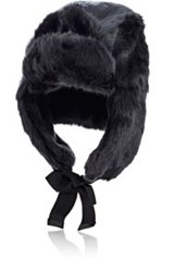 Hat Attack Faux Fur Trapper Hat Black