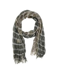 Jey Cole Man Oblong Scarves Military Green