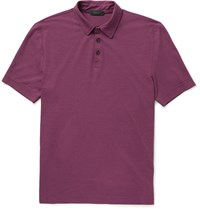 Incotex Iced Slim Fit Cotton Jersey Polo Shirt Red