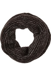 Maje Metallic Knitted Snood Black