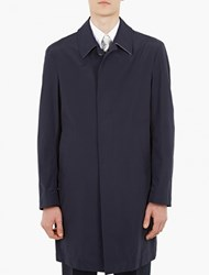 Thom Browne Navy Lightweight Cotton Overcoat