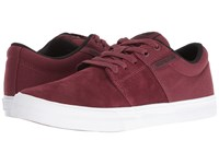 Supra Stacks Vulc Ii Burgundy Black White Men's Skate Shoes Red