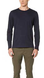 Club Monaco Long Sleeve Indigo Crew Tee Dark Indigo
