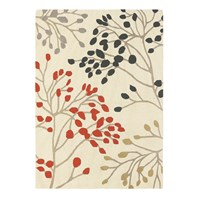 Sanderson Pippin Charcoal Coral Rug 200X280cm