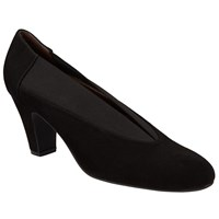 John Lewis Alexis Block Heel Court Shoes Black