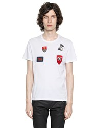 Alexander Mcqueen Organic Cotton Jersey T Shirt W Patches