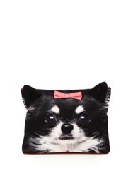 Charlotte Olympia Chihuahua Satin Zip Pouch