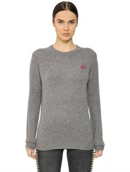 Mcq By Alexander Mcqueen Swallow Embroidered Wool Blend Sweater