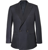 Lutwyche Navy Silk And Wool Blend Dinner Jacket Blue