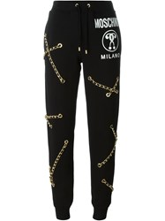 Moschino Chain Embellished Track Pant Black