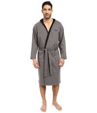 Hugo Boss Double Face Hooded Robe Charcoal Men's Robe Gray