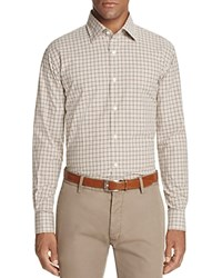 Bloomingdale's The Men's Store At Plaid Classic Fit Button Down Shirt Green Heather Brown