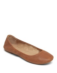 Lucky Brand Emmie Leather Ballet Flats Cognac