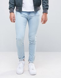 New Look Skinny Fit Jean In Bleached Blue Blue
