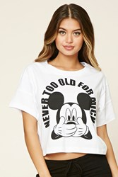 Forever 21 Never Too Old For Mickey Pj Tee Cream Black