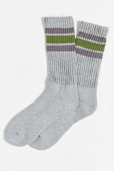 Urban Outfitters Striped Gym Sock Black