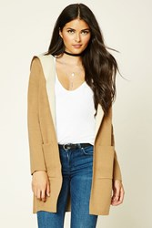 Forever 21 Longline Hooded Cardigan