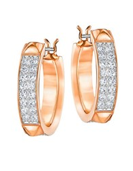 Swarovski Hoop Earrings 1In Rose Gold