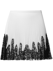 Amen Pleated Lace Skirt White