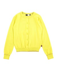 Molo Knit Button Front Cardigan Yellow