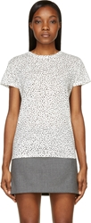 Proenza Schouler White And Black Dot Print Short Sleeve T Shirt