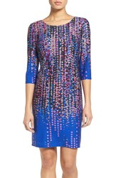 Chetta B Women's Confetti Print Knit Sheath Dress
