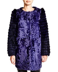 Maximilian Lamb Jacket With Fox Sleeves Bloomingdale's Exclusive