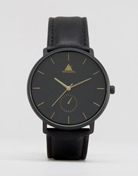 Asos Watch In Black With Gold Hands Black