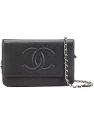 Chanel Vintage Cc Wallet On Chain Black