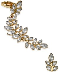 Macy's Gold Tone Flower Crystal Ear Cuff Set