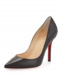 Christian Louboutin Apostrophy Pointed Red Sole Pump Black