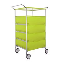 Kartell Mobil 4 Drawer Shelf And Wheels Citron Yellow