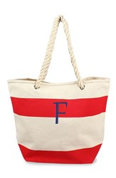 Cathy's Concepts Personalized Stripe Canvas Tote Red Red F