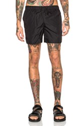 Acne Studios Perry Nylon Swim Trunks In Black