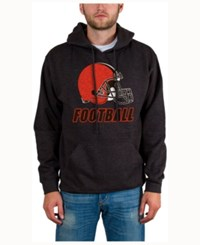 Junk Food Men's Cleveland Browns Wing T Formation Hoodie Heather Charcoal