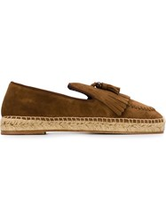 Louis Leeman Fringed Espadrilles Brown