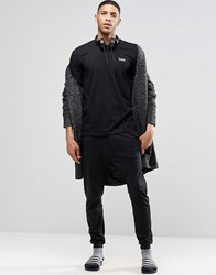 Diesel Cuffed Lounge Pants In Slim Fit Black