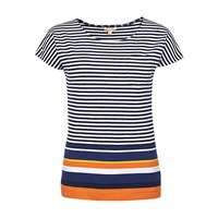 Barbour Harewood Stripe T Shirt Navy