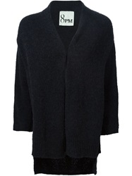 8Pm Long Knit Cardigan Black