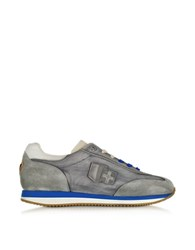 D'acquasparta Leonardo Gray Fabric And Suede Sneaker