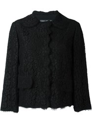Dolce And Gabbana Floral Lace Jacket Black