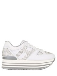 Hogan 70Mm Studded Leather Sneakers