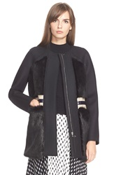 Tanya Taylor 'Fred' Faux Fur Detail Coat