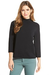 Halogen Mock Turtleneck Sweater Black