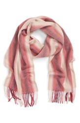 Nordstrom Women's Striped Cashmere Scarf Red Combo