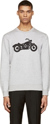 Marc By Marc Jacobs Grey Motorcycle Graphic Sweatshirt