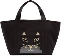 Charlotte Olympia Black Ami Kitty Tote Bag