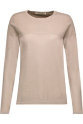 Goat Bruno Cashmere And Silk Blend Sweater Mushroom