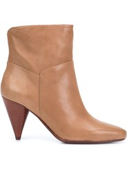 Derek Lam 10 Crosby Cone Heel Booties Brown
